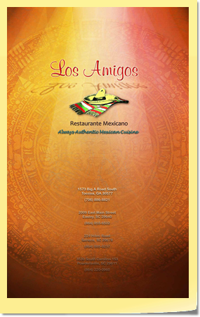Menu Cover Page